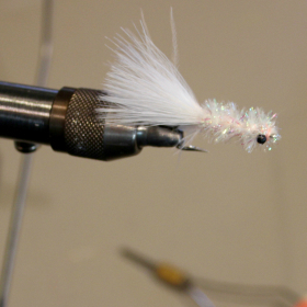 Example of the crystal schminnow fly tying pattern